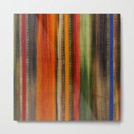 Boho Stripes Metal Print