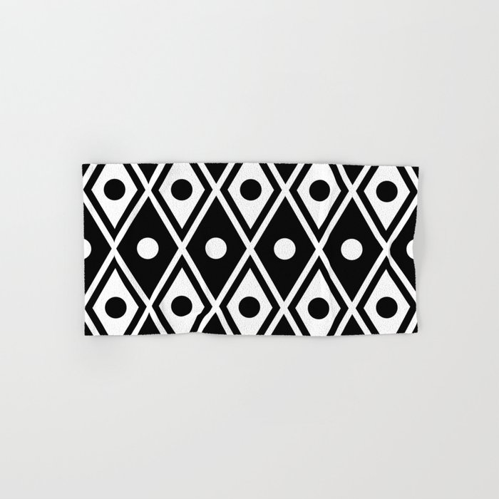 black and white bath towels. Harlequin Pattern Black \u0026 White Hand Bath Towel And Towels