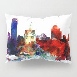 Colorful Milwaukee watercolor skyline Pillow Sham