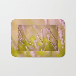 Soft focus of pink heather macro Bath Mat