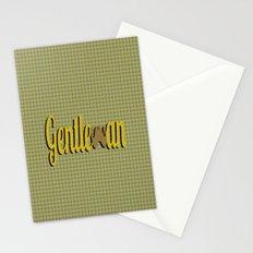 Gentleman (Short Mustache) Stationery Cards