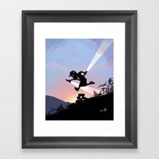 Flash Kid Framed Art Print