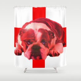 BREXIT: the Bull is Feeling: it stopped thinking. Shower Curtain