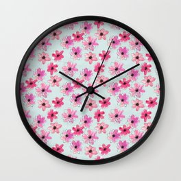 Floral hand painted pattern Wall Clock