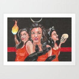Hekate Thanategos Art Print