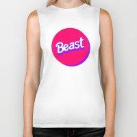 beast Biker Tanks featuring Beast by Heretical