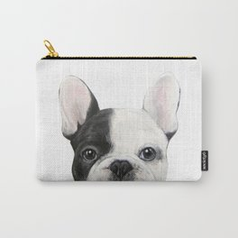 French Bulldog Dog illustration original painting print Carry-All Pouch