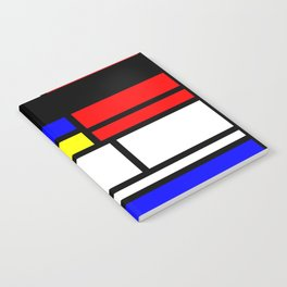 Cubism Painting Art Retro Pattern Notebook