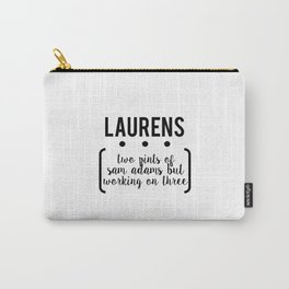 laurens // white Carry-All Pouch