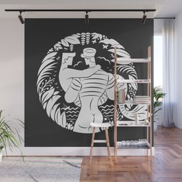 Sailor love black Wall Mural