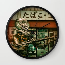 Insect Man Causes Havoc Wall Clock