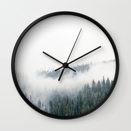 Foggy Mountain Right Wall Clock