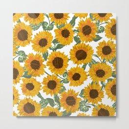 SUNNY DAYS -sunflowers- Metal Print