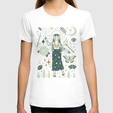 The Guide White Womens Fitted Tee MEDIUM