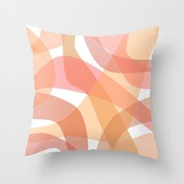 Abstract Blush Throw Pillow