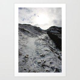 A winter's walk Art Print