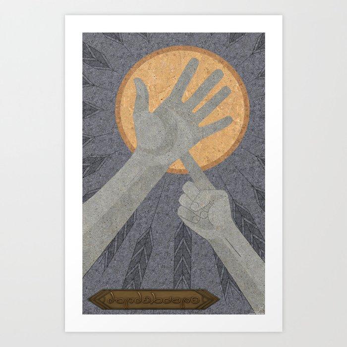 Dandelions - (Artifact Series) Art Print
