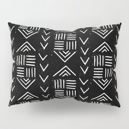 mudcloth 6 minimal textured black and white pattern home decor minimalist Pillow Sham