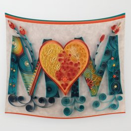 Teal Orange MOM Wall Tapestry