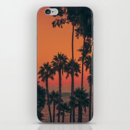 Sunset from a Cove on Catalina iPhone Skin