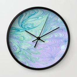 Ocean Marbling Wall Clock