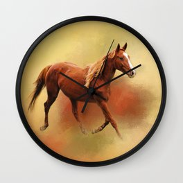 A Dash of Chestnut Mare Wall Clock