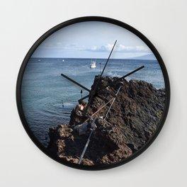 cliff jump Wall Clock