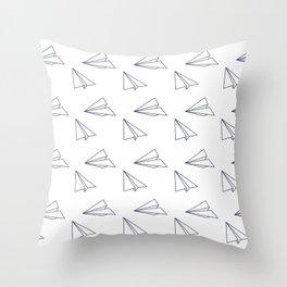 Papar airplane Throw Pillow