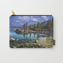 Sand Harbor Morning Carry-All Pouch
