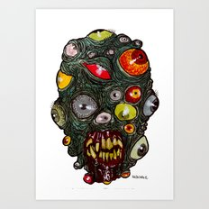 Heads of the Living Dead Zombies: Eye of Balls Zombie Art Print