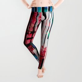 Floral Keys [red] Leggings