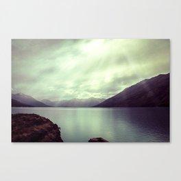 Lake mountain light Canvas Print