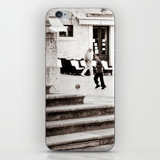Soccer in the Square iPhone & iPod Skin