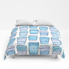 Coffee Cups | Blue Palette Comforters