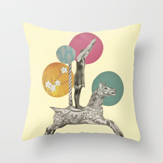 Runaway Horse Throw Pillow