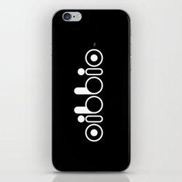Oibbio Logo (Blackout) iPhone Skin