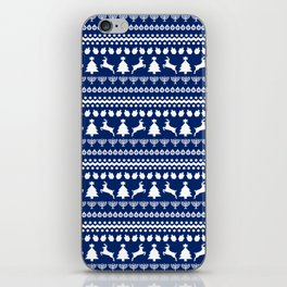 Ugly Chrismukkah Sweater iPhone Skin