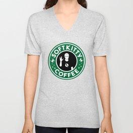 Soft Kitty Coffee Unisex V-Neck