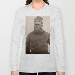 Bearded Ship Captain with Pipe - Vintage Photo Long Sleeve T-shirt