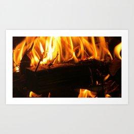 Wood Burning Art Print