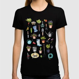 Garden Gear - Spring Gardening Pattern w/ Garden Tools & Supplies T-shirt