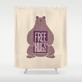 Free Hugs Bear Shower Curtain