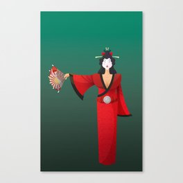 Vector Geisha (Turning Japanese) Canvas Print