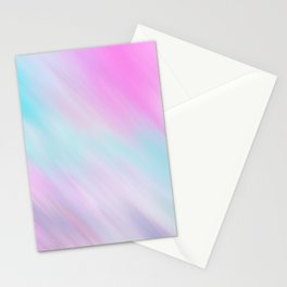 Artsy Pink Teal Watercolor Brushstrokes Stationery Cards