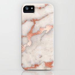 Rose Gold Marble Blush Pink Copper Metallic Foil iPhone Case