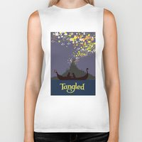 tangled Biker Tanks featuring Tangled by TheWonderlander