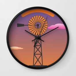 windmill glance Wall Clock