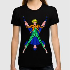 Kenzo Pop Art SMALL Black Womens Fitted Tee