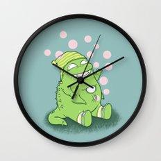 Happy Green Monster Wall Clock