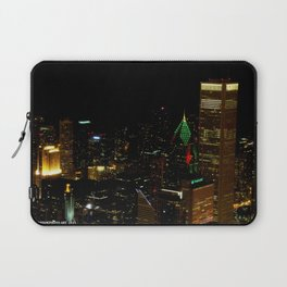 A Christmas Skyline in Chicago (Chicago Christmas/Holiday Collection) Laptop Sleeve